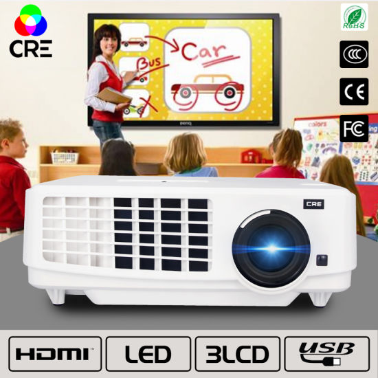 China High Brightness Video Classroom Presentation LED Projectors