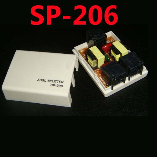 China Sp-206 Rj11 Telephone ADSL Splitter Flitter Phone Modem