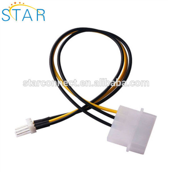 China Factory 4-Pin Molex to 3pin Connector Wire Harness Computer