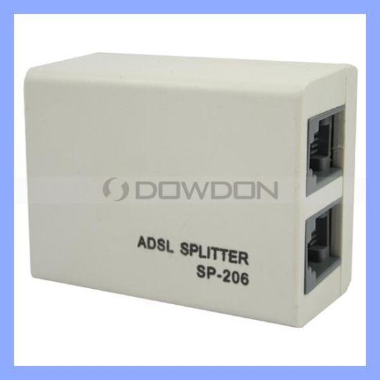 China Rj11 Line ADSL DSL Modem Phone Splitter Filter Adapter