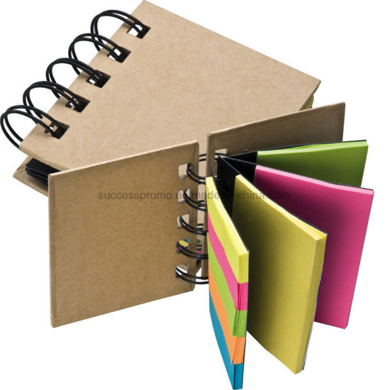 China Small Ring-Binder with Coloured Memo Strips - China Note Pad