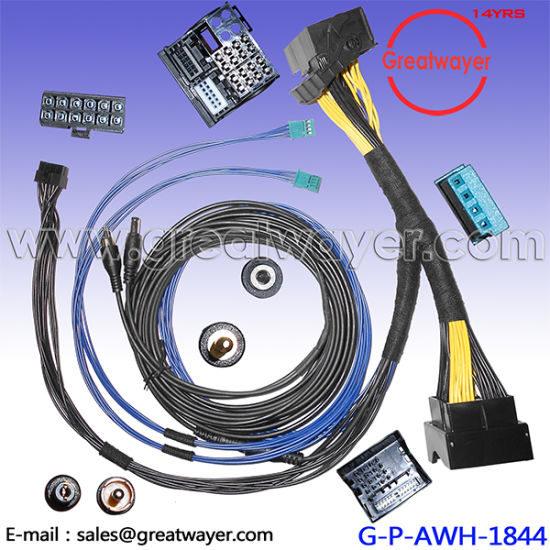 China BMW 740L Car Radio Replacement 40 Pin Connector Stereo Wire