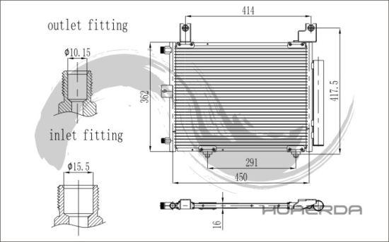 Perodua Kembara Dvvt Automotive Cooling System Condenser - China