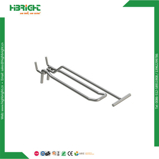 China Wholesale Double Wire Harness Pegboard Hook - China Chrome