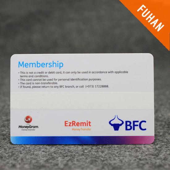 China Simple Design Rectangle Membership Card - China Member PVC