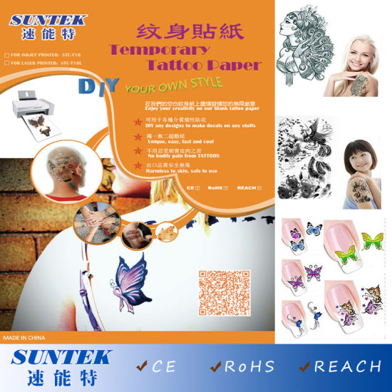 China Water Transfer Temporary Tattoos Paper for Nail Art Stickers