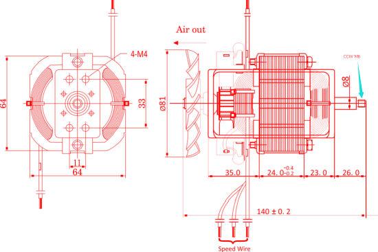 China 76mm 15000rpm Universal Single Phase AC Brush Motor with Ce