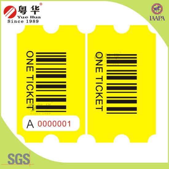 China 2016 Hot Sale 160g/180gwood Free Paper Raffle Ticket for