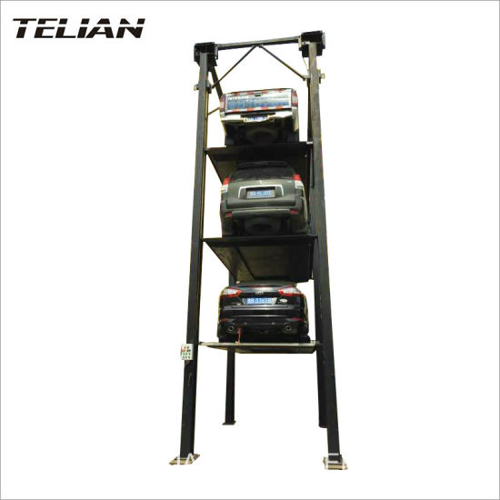 China Manual Release 4 Post Auto Car Hoist for Sale - China Parking