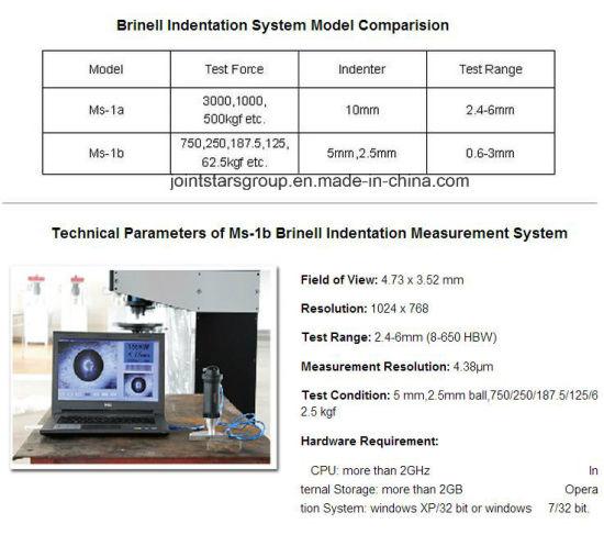 China Brinell Indentation Measurement System/Universal Hardness