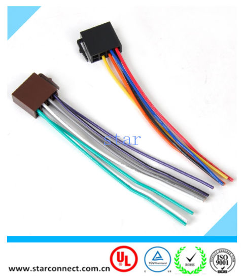 China Universal ISO Radio Wire Harness Female Adapter Connector