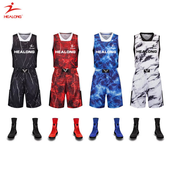 China Custom Any Color Sublimation Basketball Uniform Design