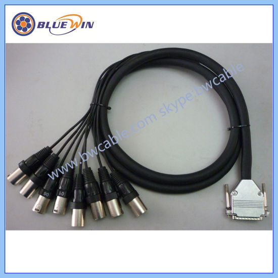 China 25 Pin D-SUB Snake Audio Cable 8 XLR Female to D-SUB - China D