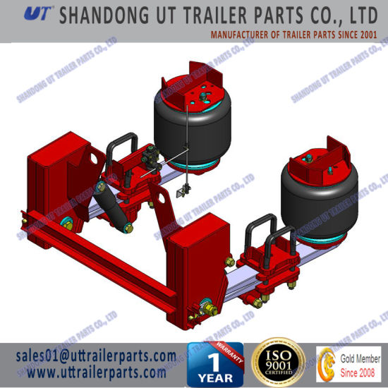 China 13 Tons Air Ride Suspension with Twin Leaf Spring Arm for