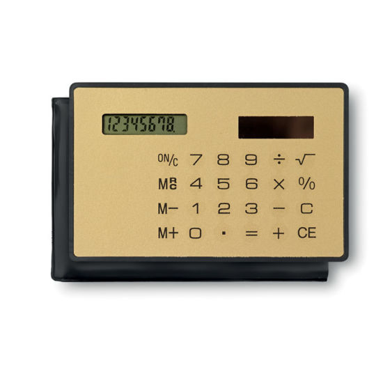 China Solar 8 Digit Credit Card Size Calculator with Customized Logo