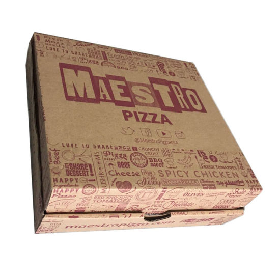 China 10/12/14/16 Inches Size Custom Logo Paper Pizza Box - China