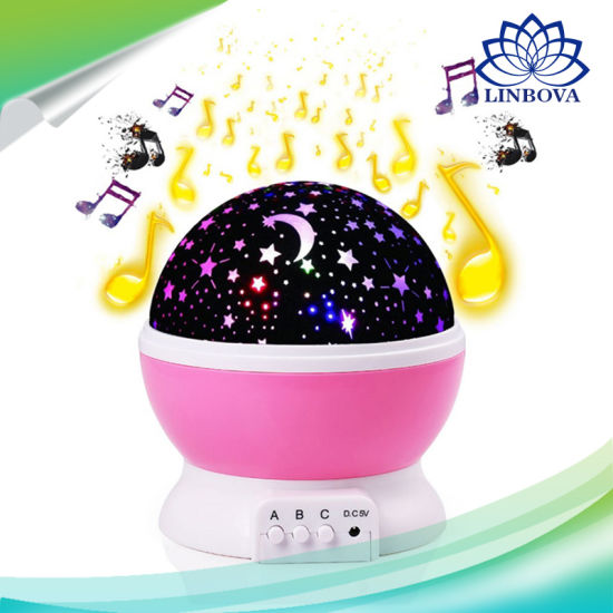 China Dream Rotation Night Projector LED Night Light Lamp Projection