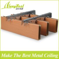 China 25X100mm Wood Color Aluminum Box Baffle Ceiling ...