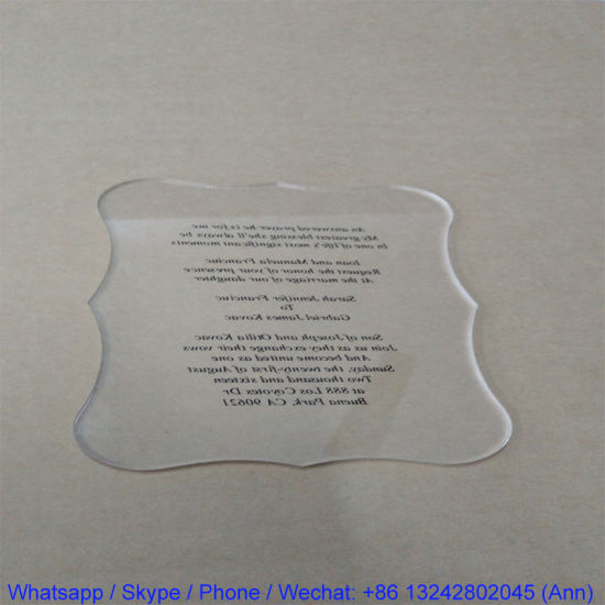 China Personalized Acrylic Wedding Invitation Card, Special Event - invitation card event