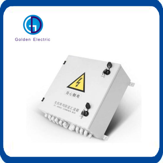 China 10 String Solar Input PV Combiner Box with Fuse Lighting Anti