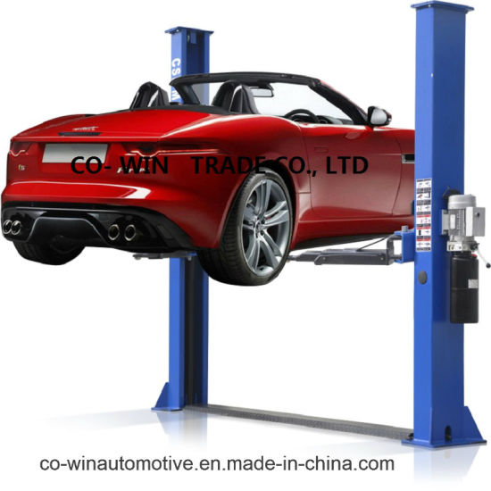 China Asymmetrical 4 Tons 2 Post Car Lift with Manual Release