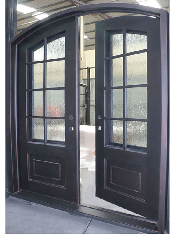 China Pipe Suppliers China Modern House Steel Pipe French Door Design Iron Door
