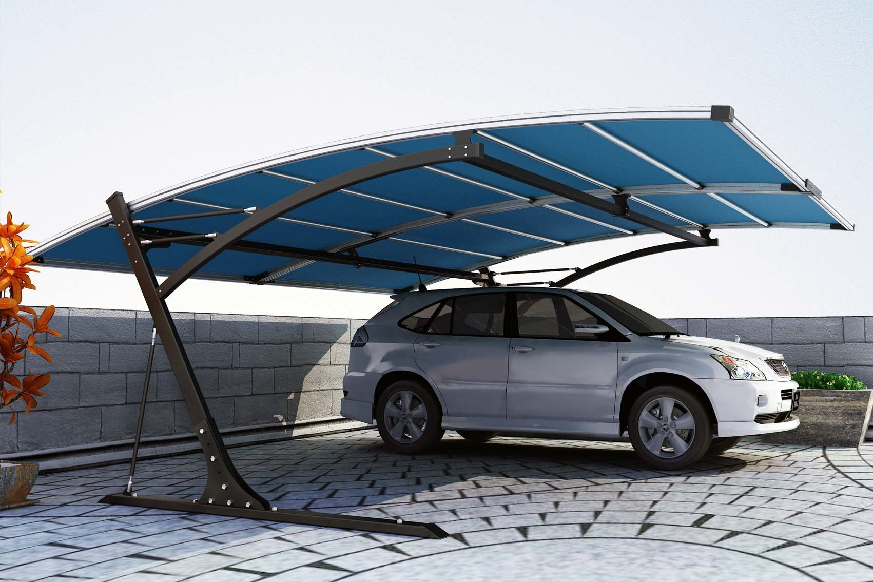 Design Carports China New Design Metal Carport With Logo China Carport