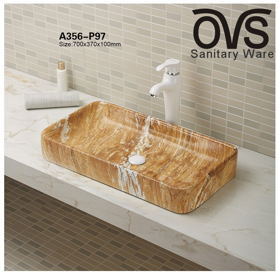 Marble Basin China Marble Color Hot Sale Ceramic Wash Basin Cabinet Basin