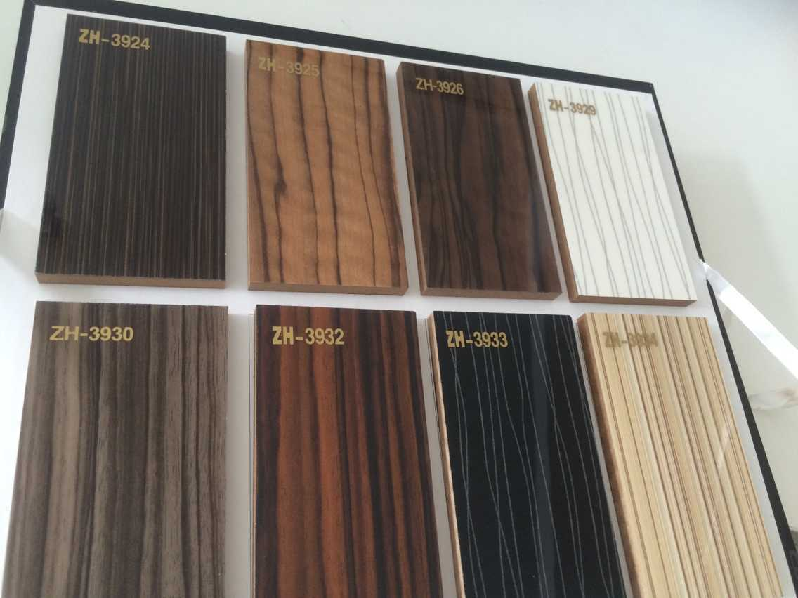 Woodgrain Laminate MDF UV Boards for Kitchen Cabinet Doors glossy