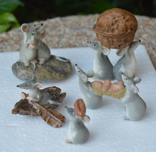 China Sales Resin Mouse Cute Mice Peanuts Gifts Home Decoration