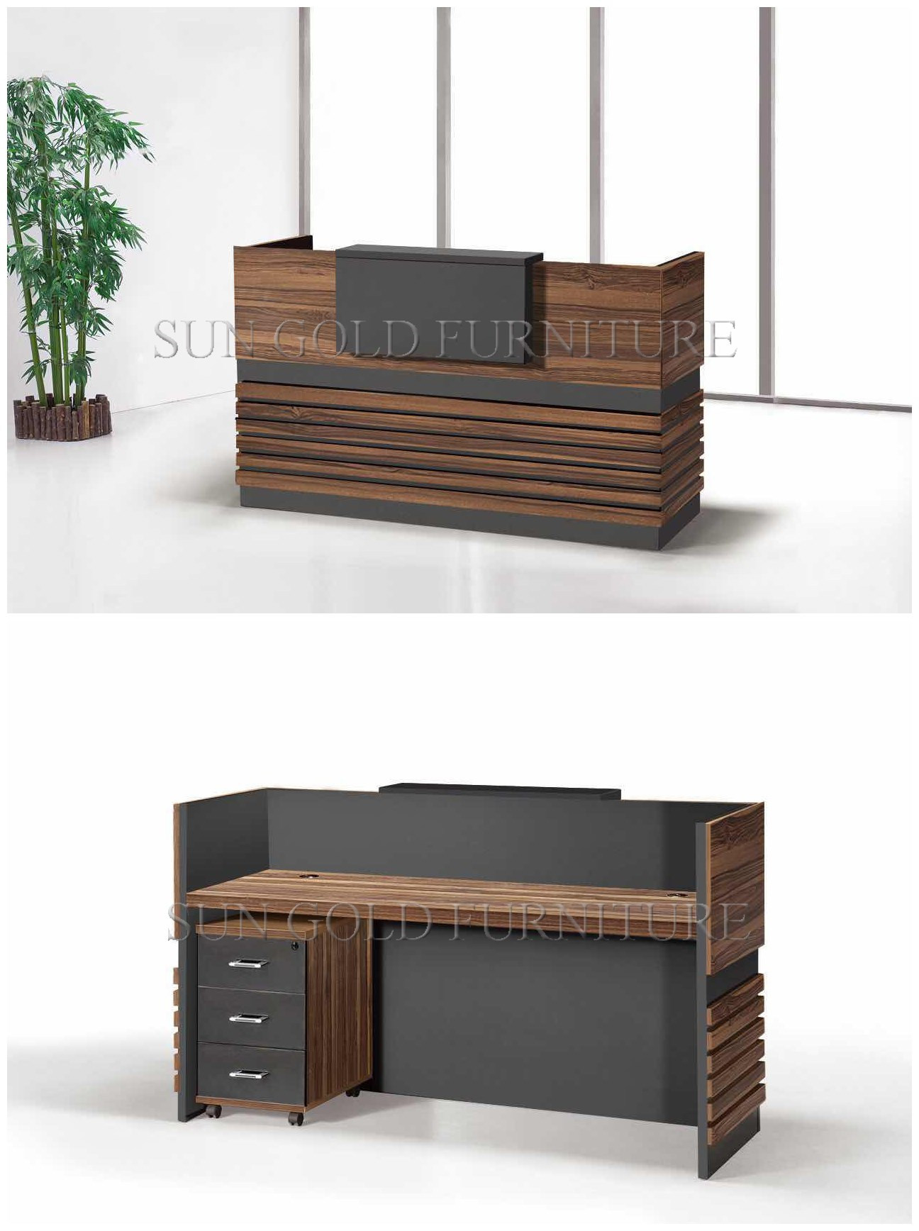 Simple Office Reception Design China Popular Simple Wooden Front Office Counter Salon