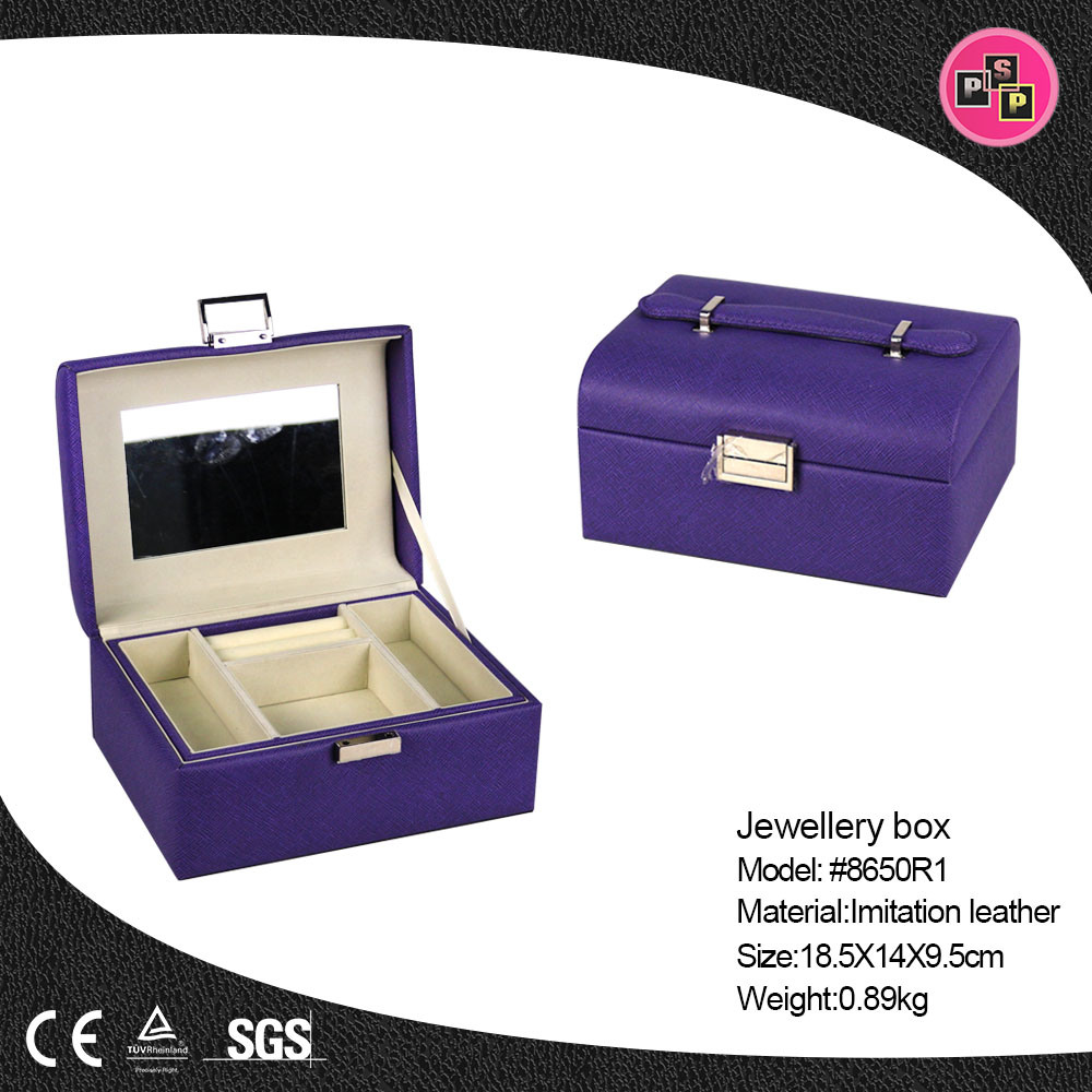 Wholesale Jewelry Packaging Hot Item Wholesale Luxury Custom Pu Leather Jewelry Packaging Box 8650