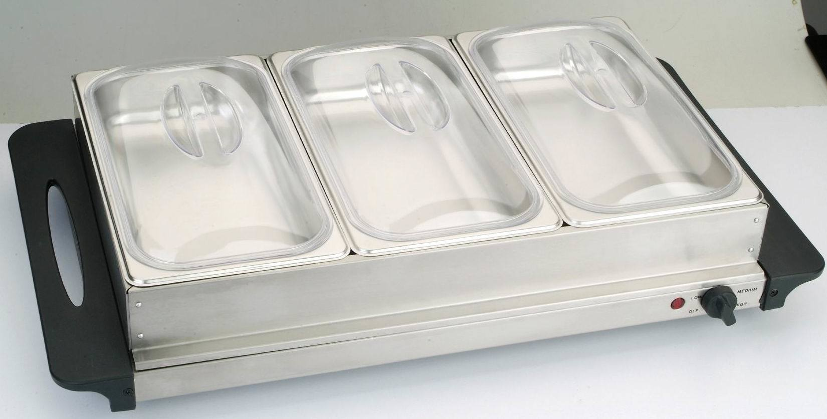 Manufacturing Carton Box Supplier China Triple Buffet Server Warmer Warming Tray 3 1 5qt