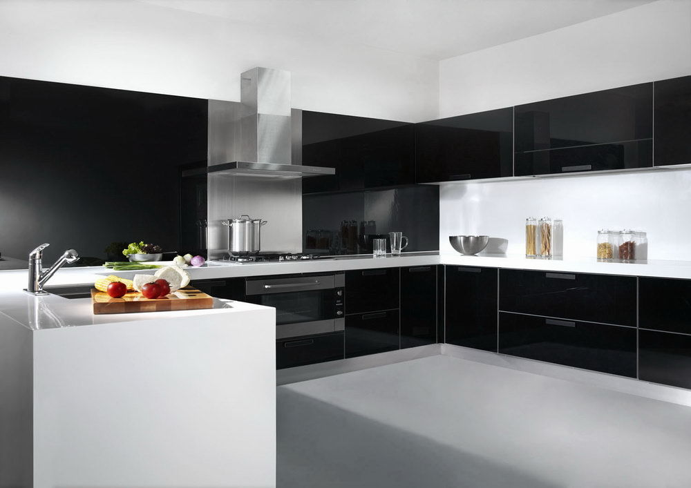 Lacquered Glass Kitchen Cabinets China Glass Lacquer Door Kitchen Cabinet - China Kitchen