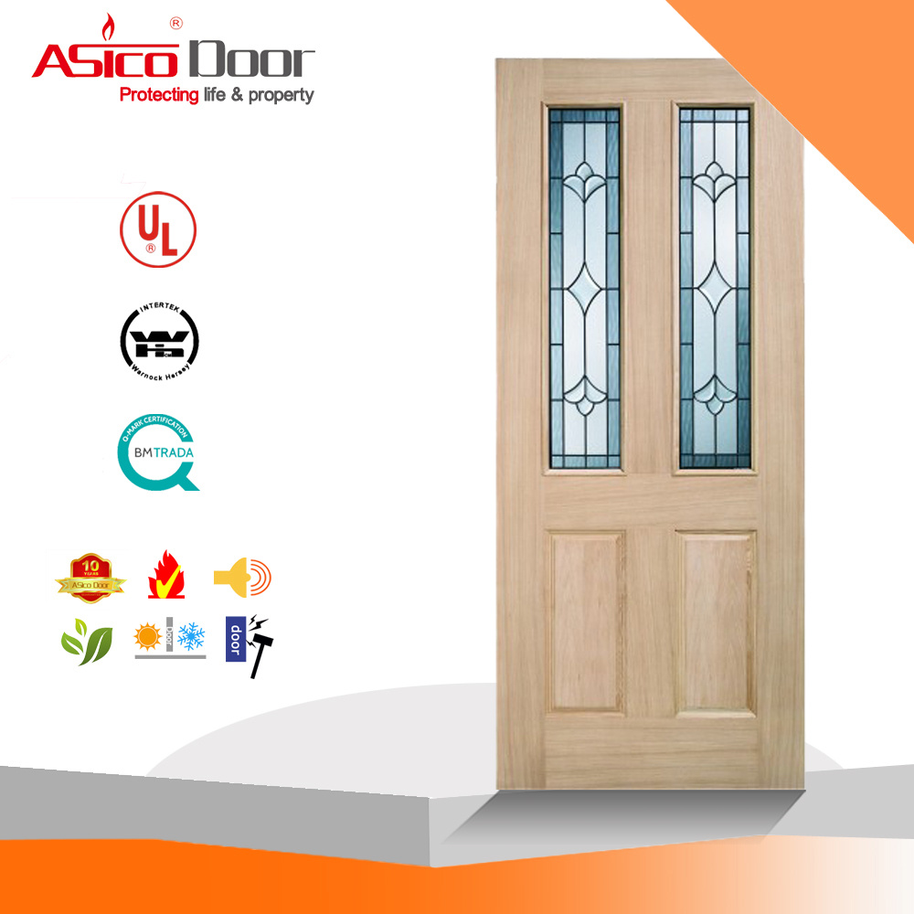 Timber Glass Doors Hot Item Solid Timber Oak Wooden Glass Door