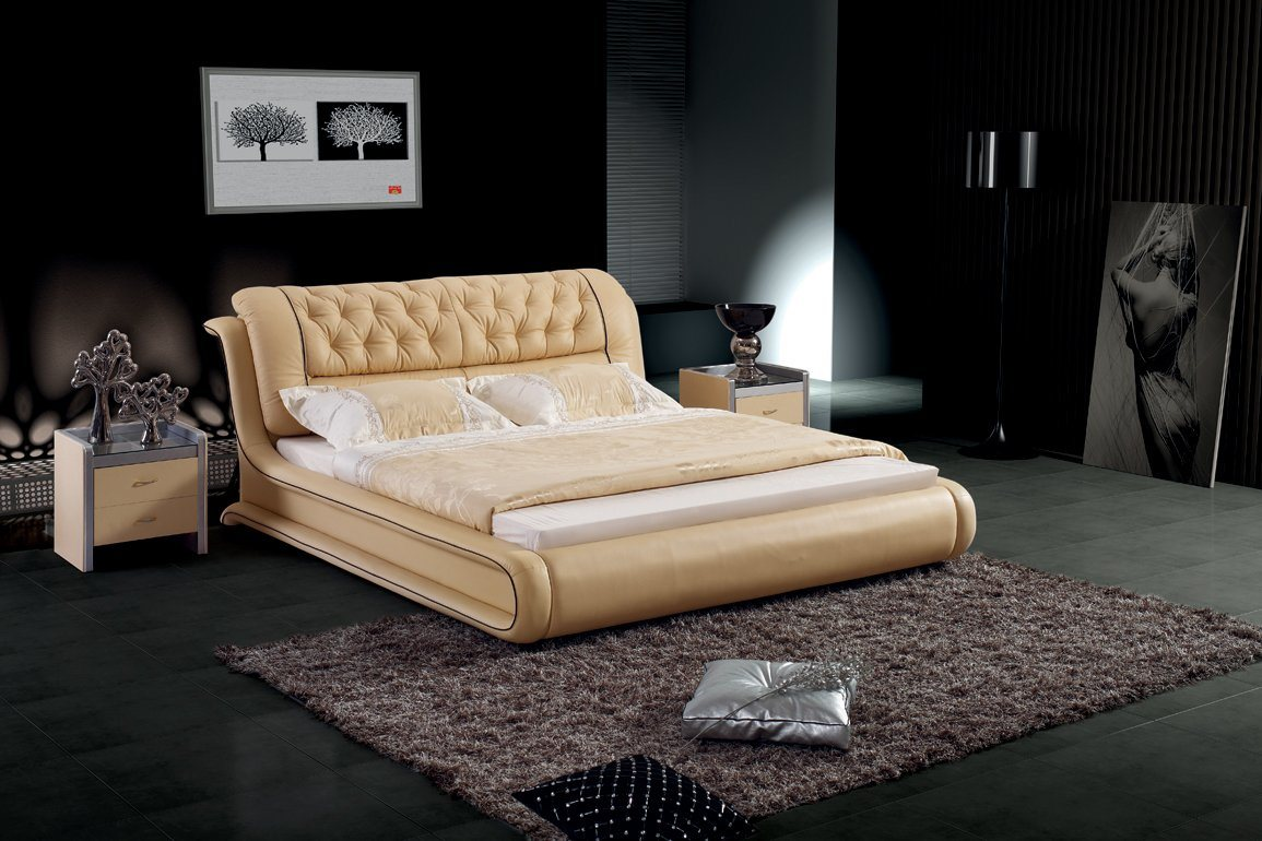Leather Bed Hot Item Bedroom Furniture Leather Bed Sbt 5819