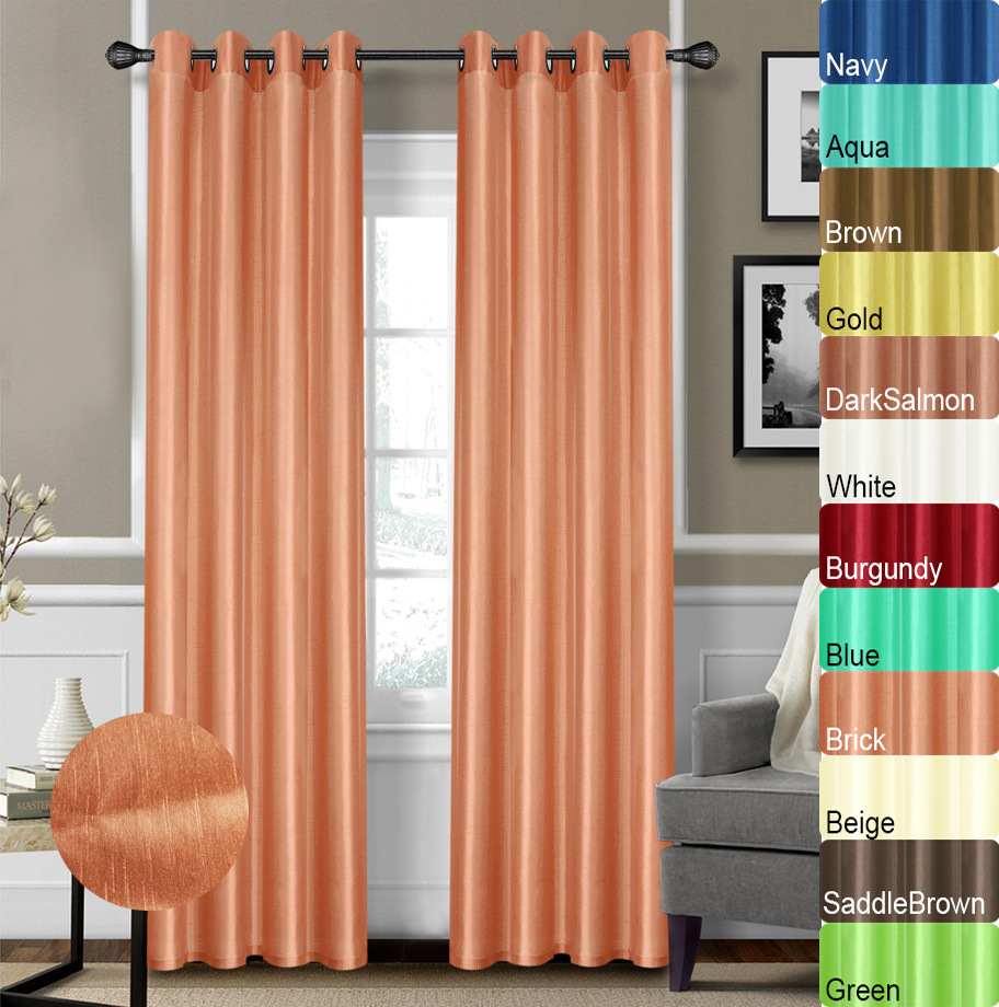 Faux Silk Curtains Hot Item 100 Polyester Faux Silk Curtains