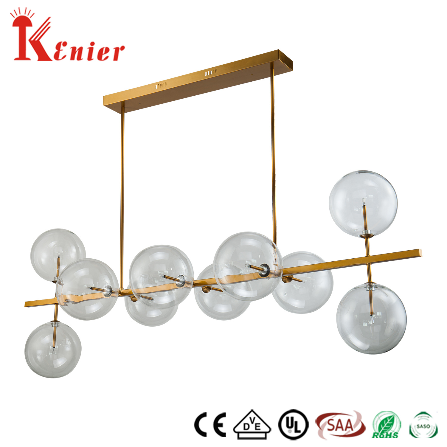 Modern Lighting Quotes Hot Item Hot Sale Restaurant Decorative Single Brass Metal Clear Glass Ball Ceiling Light Modern Pendant Lamp