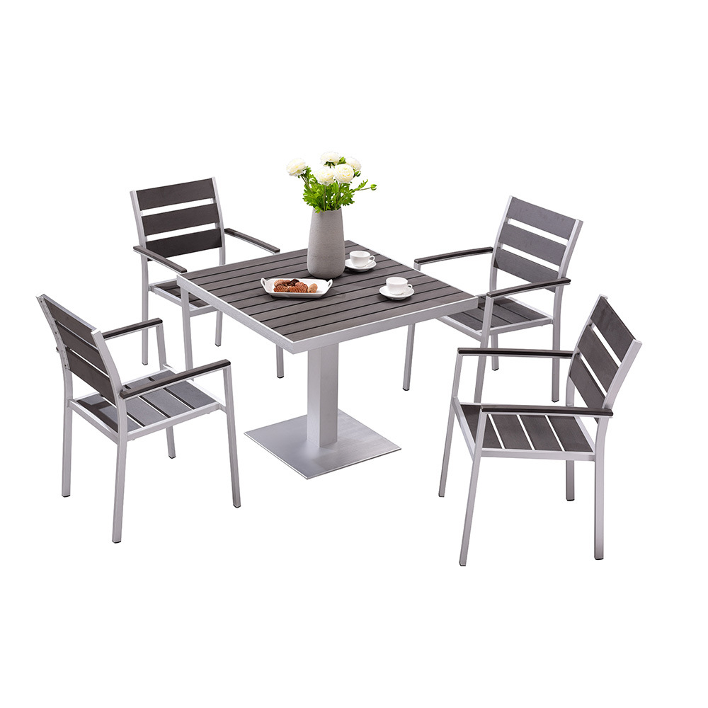 Waterproef Restaurant Hot Item Waterproof Outdoor Dining Table And Chair Leisure Garden Set