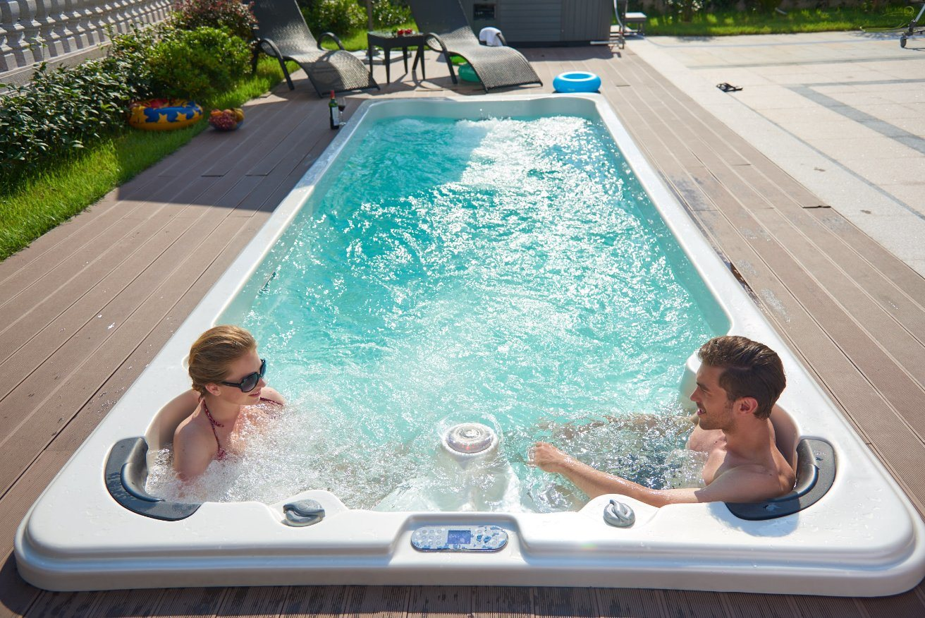 Jacuzzi With Swimming Pool Hot Item Outdoor Hot Tub Massage And Swimming Swim Spa Pool