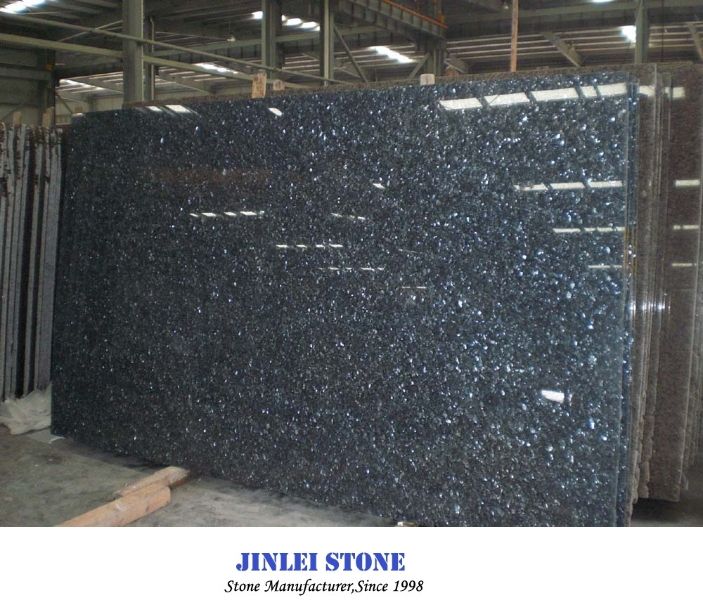 China Solid Surface Granite Blue Pearl Natural Stone Granite Countertop With Sraight Nose Bullnose Ease Edge Photos Pictures Made In China Com