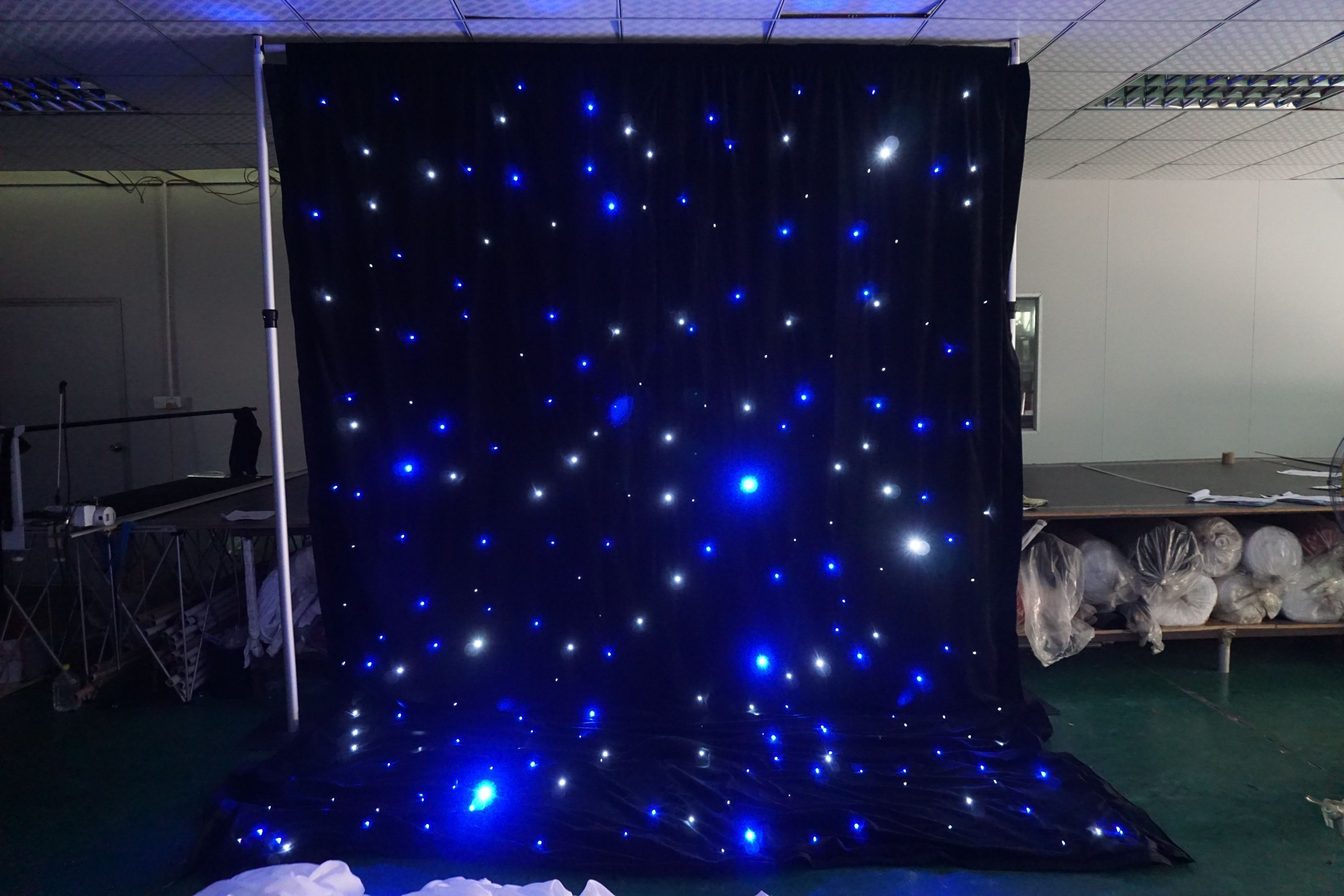 How To Make Curtain Lights Hot Item Led Star Curtain Led Backdrop With White Blue Led Lights