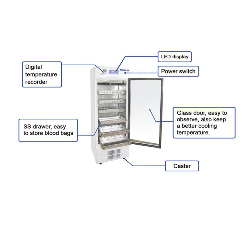 China Biobase Ce Certified Single Door Blood Bank Refrigerator