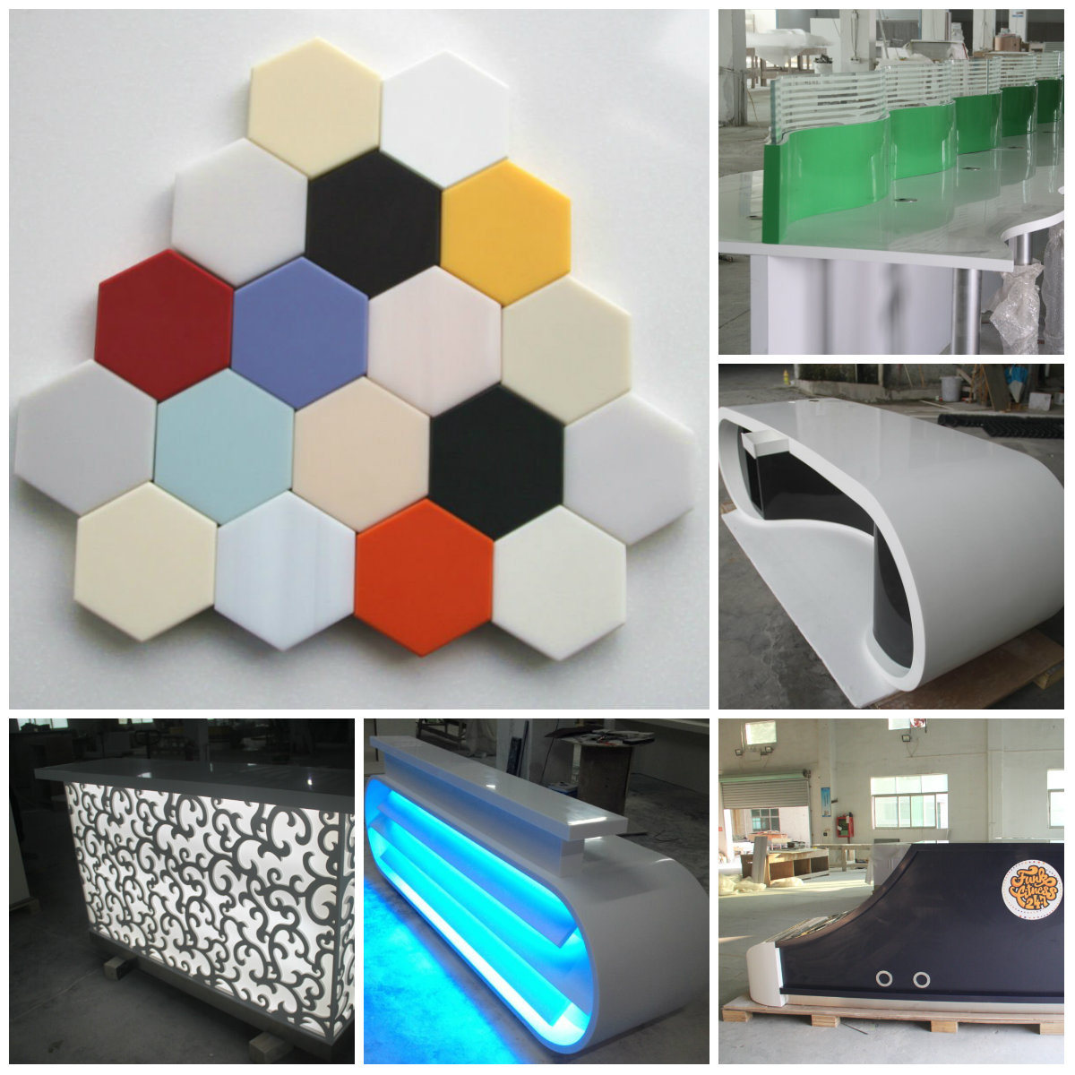Wholesale Solid Surface Countertops China 180 Colors Corian Solid Surface Sheets Glacier