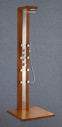 China Wood Shower Panel Out Door Shower Panel - China ...