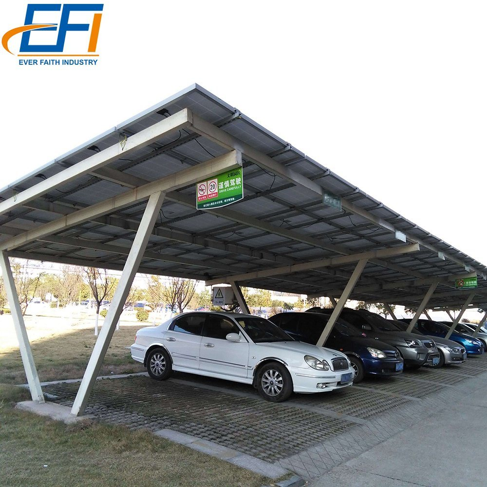 Karpot China Carport Solar Pv Mounting Structure Steel Solar Carport With Aluminum Frame - China Carport Solar Pv Mounting Structure, Solar Carport With Aluminum Frame