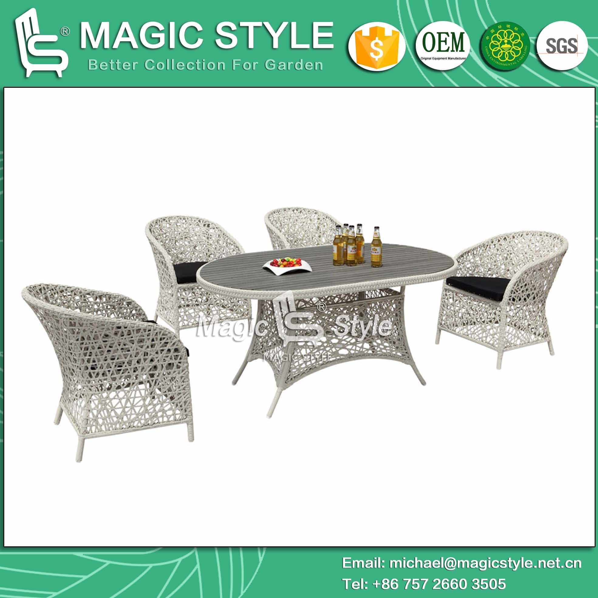 Outdoor Patio Furniture Dining Table China Outdoor Dining Set Rattan Chair Wicker Table Patio Furniture