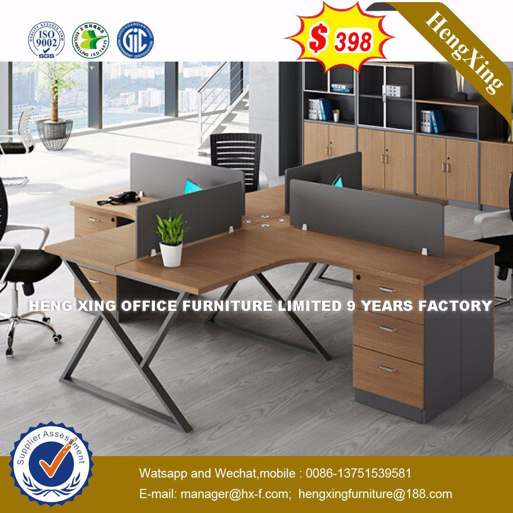 Workstation Furniture Hot Item New Design L Shape Wooden Furniture Office Workstation Partition Hx 8n2643