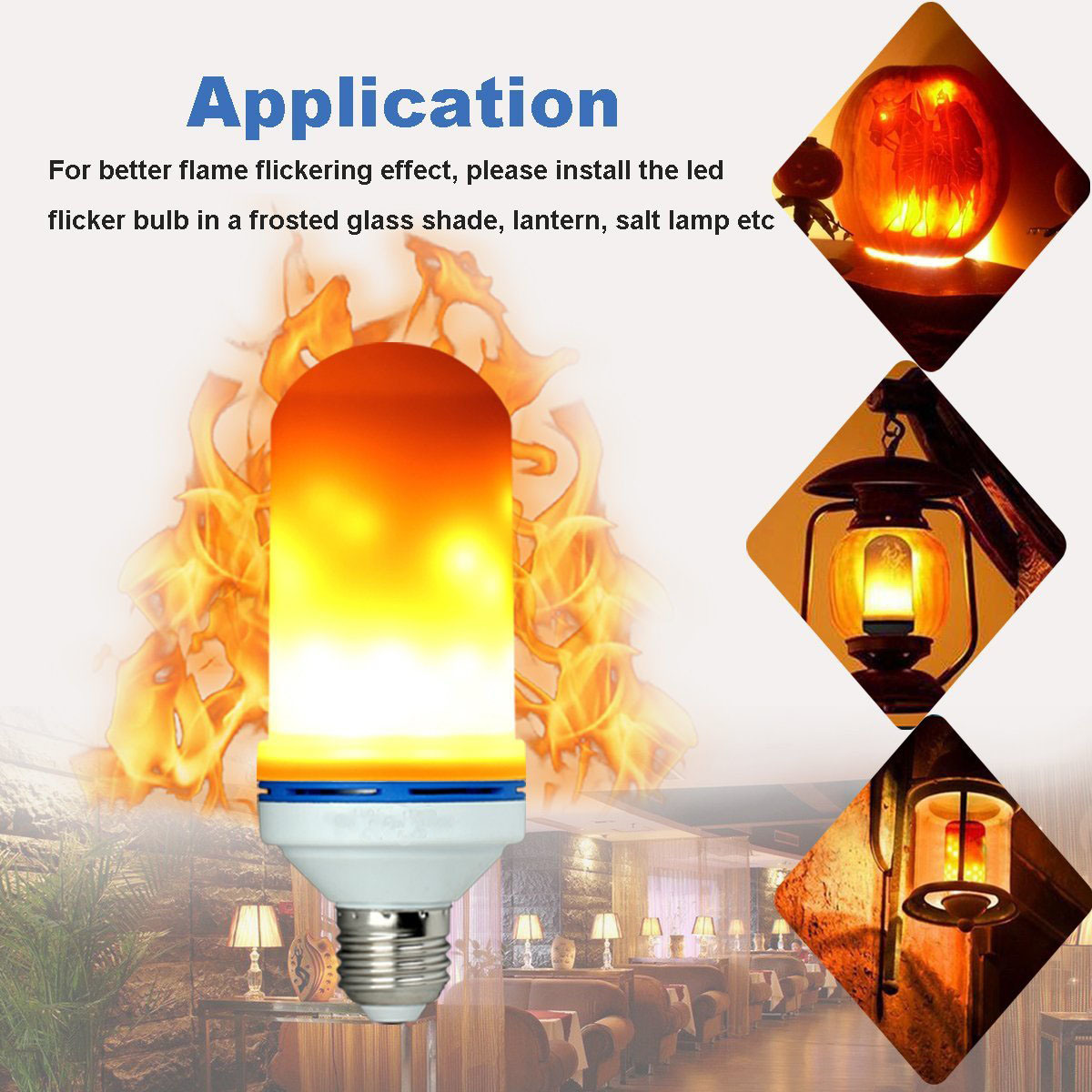 Flame Led Lamp E27 Hot Item Led Flame Effect Light Bulb E27 Led Flickering Flame Bulb Atmosphere Lighting Bulb