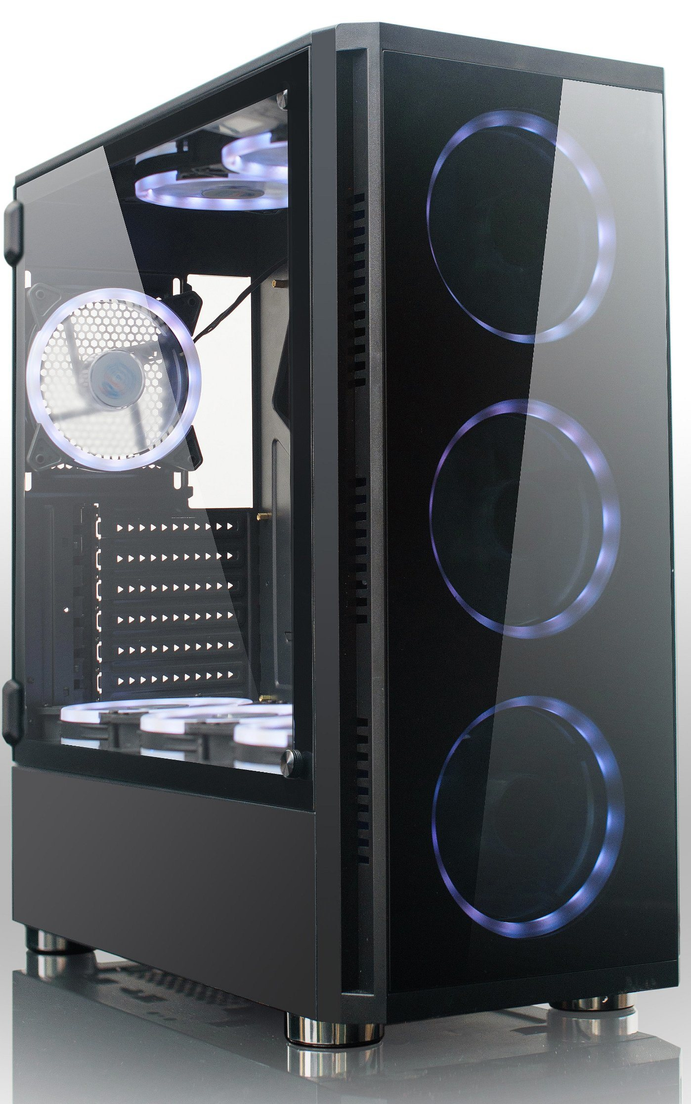 Case Pc Hot Item Best Sale Atx Gaming Pc Case Computer Case With Rgb Fan Opened Glass Window
